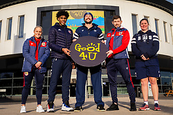 Bristol City Women's Alicia Johnson, Bristol Flyers Justin Gray, Bristol Bears Joe Latta, Bristol City Frankie Fielding, Bristol Bears Women Kim Oliver - Ryan Hiscott/JMP - 09/01/2019 - COMMERCIAL - Ashton Gate - Bristol, England - Bristol Sport Announce Sponsor Partnership with Good 4 U