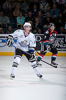 KELOWNA, CANADA - SEPTEMBER 28:  Steven Hodges #11 of the Victoria Royals skates on the ice at the Kelowna Rockets on September 28, 2013 at Prospera Place in Kelowna, British Columbia, Canada (Photo by Marissa Baecker/Shoot the Breeze) *** Local Caption ***