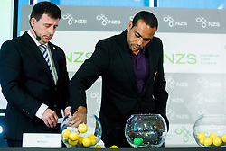Ales Zavrl of NZS and Marcos Tavares Morales of NK Maribor during NZS Draw for season 2015/16 on June 23, 2015 in Brdo pri Kranju, Slovenia. Photo by Vid Ponikvar / Sportida