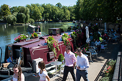 © Licensed to London News Pictures. 02/08/2018. London, UK. People enjoy the sunshine in Little Venice in London on another hot summers day. Another heatwave is expected to hit parts of the UK with record temperatures expected in parts of Europe. Photo credit: Ben Cawthra/LNP
