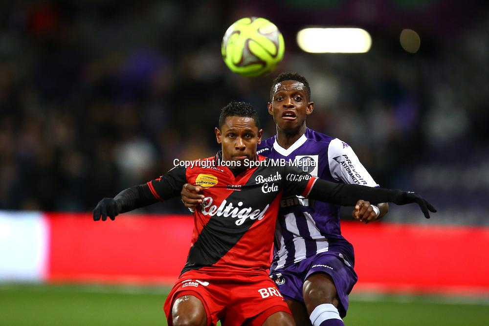 Christophe Mandanne / Jacques Francois Moubandje - 20.12.2014 - Toulouse / Guingamp - 19eme journee de Ligue 1 <br />Photo : Manuel Blondeau / Icon Sport