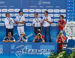 Weinberg Peter, GER, Philippaerts Nicola, BEL, Devos Pieter, BEL, Wathelet Gregory, BEL<br /> World Equestrian Games - Tryon 2018<br /> © Hippo Foto - Dirk Caremans<br /> 19/09/18