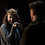 March 24, 2016 - New York, NY : David Tennant, left, performs as Richard II during a photo call/dress rehearsal for The Royal Shakespeare Company's (RSC) Richard II at the Brooklyn Academy of Music's (BAM) Harvey Theater in Brooklyn on Thursday afternoon. The production, which is being directed by RSC Artistic Director Gregory Doran as part of Shakespeare's Great Cycle of Kings, marks the 400th anniversary of William Shakespeare's death.  CREDIT: Karsten Moran for The New York Times