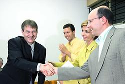 A candidata ao governo do Estado do RS, Yeda Crusius em reunião com entidades de funcionários do Banrisul. FOTO: Jefferson Bernardes/Preview.com