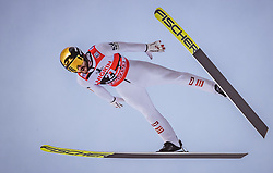 12.01.2019, Stadio del Salto, Predazzo, ITA, FIS Weltcup Skisprung, Val di Fiemme, Herren, 1. Wertungsdurchgang, im Bild Manuel Fettner (AUT) // Manuel Fettner of Austria during his 1st Competition Jump for the Four Hills Tournament of FIS Ski Jumping World Cup at the Stadio del Salto in Predazzo, Itali on 2019/01/12. EXPA Pictures © 2019, PhotoCredit: EXPA/ JFK