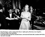 Kim Basinger  at the  Vanity Fair Oscar  night party, Mortons, Los Angeles. 23 March 1988. Film 98149f24<br />