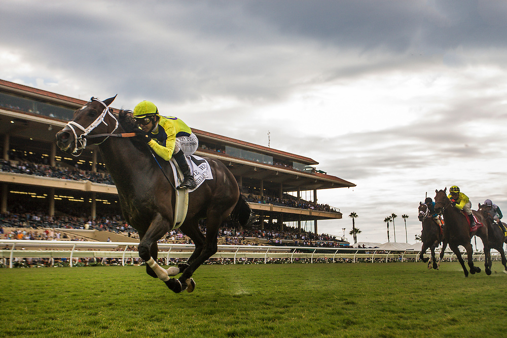 July 18 2015: Gabriel Charles with Mike Smith up wins the Eddie Read Handicap at Del Mar Race Course in Del Mar CA. Alex Evers/ESW/CSM
