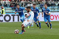 """Il gol di Lorenzo Insigne Napoli<br /> Goal Celebration Napoli<br /> Empoli 19-03-2017  Stadio """"Carlo Castellani""""<br /> Campionato Serie A 2016/2017<br /> Empoli - Napoli<br /> Foto Luca Pagliaricci / Insidefoto"""