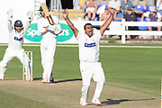 Samit Patel appeals for LBW against Chris Wright during the Specsavers County Champ Div 2 match between Glamorgan County Cricket Club and Leicestershire County Cricket Club at the SWALEC Stadium, Cardiff, United Kingdom on 17 September 2019.
