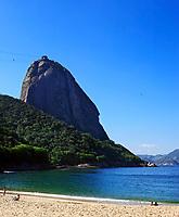 view of the sugar loaf from praia vermelha in rio de janeiro brazil