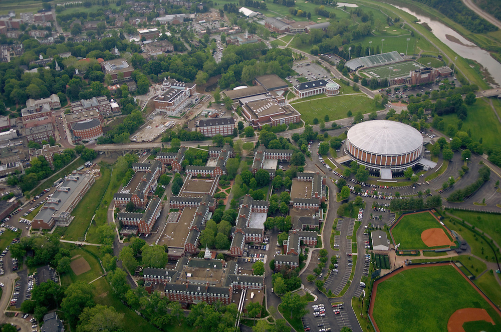 17690Campus Shots: Inside Plane and Aerials of Campus in the spring