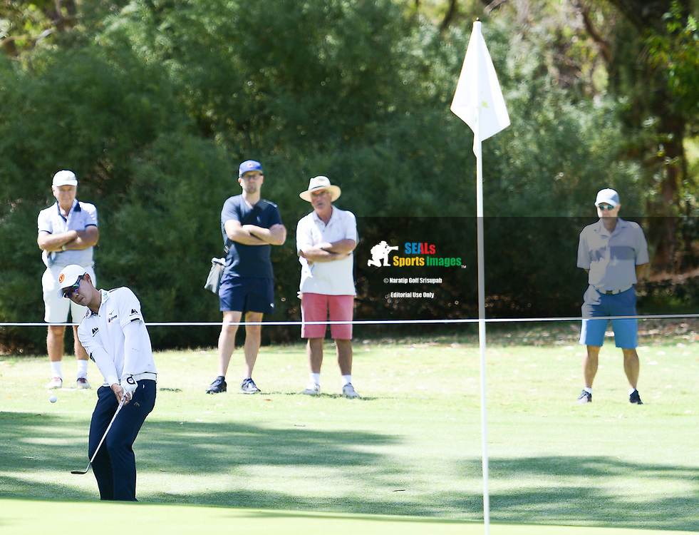 PERTH, AUSTRALIA - FEBRUARY 15: Jazz Janewattananond (THA) on the 7th green during the 2nd round of the ISPS Handa World Super 6, Lake Karrinyup Country Club, Perth, Western Australia, on February 15, 2019. <br /> .<br /> .<br /> .<br /> (Photo by: Naratip Golf Srisupab/SEALs Sports Images)<br /> .<br /> Any image use must include a mandatory credit line adjacent to the content which should read: Naratip Golf Srisupab/SEALs Sports Images