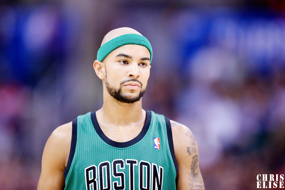 08 January 2014: Boston Celtics point guard Jerryd Bayless (11) rests during the Los Angeles Clippers 111-105 victory over the Boston Celtics at the Staples Center, Los Angeles, California, USA.