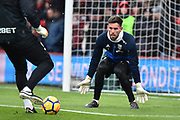 Ben Foster (1) of West Bromwich Albion warming up before the Premier League match between Bournemouth and West Bromwich Albion at the Vitality Stadium, Bournemouth, England on 17 March 2018. Picture by Graham Hunt.
