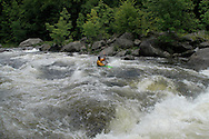 Whitewater kayaking on the Deerfield River, Dryway Section, Charlemont MA.
