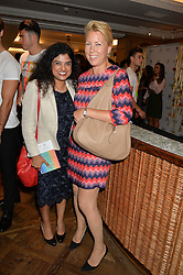 Left to right, DR SUSANA BANERJEE and JANEY KINRADE at the 3rd annual Gynaecological Cancer Fund Ladies Lunch at Fortnum & Mason, 181 Piccadilly, London on 29th September 2016.