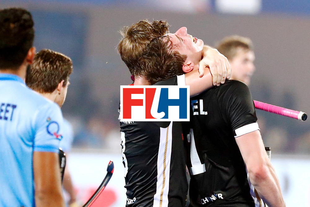 Odisha Men's Hockey World League Final Bhubaneswar 2017<br /> Match id:21<br /> India v Germany<br /> Foto: keeper Mark Appel (Ger) scored 1-1<br /> Mats Grambusch (Ger) <br /> WORLDSPORTPICS COPYRIGHT KOEN SUYK