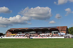 Spectators gather at Taunton RFC to watch Bristol Rugby v Gloucester United - Mandatory by-line: Paul Knight/JMP - 02/10/2016 - RUGBY - Hyde Park - Taunton, England - Bristol United v Gloucester United - Aviva A League