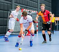 ROTTERDAM  - NK Zaalhockey,   halve finale heren Oranje Rood-SCHC (SCHC wint en plaatst zich voor de finale) . Thomas Vis (SCHC).    COPYRIGHT KOEN SUYK