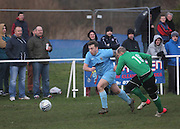 Fairfield's Steve Martin (blue) during his side's last 16 Scottish Cup clash with Cleland - Dundee Sunday Amateur Football<br /> <br />  - &copy; David Young - www.davidyoungphoto.co.uk - email: davidyoungphoto@gmail.com