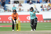 Dane van Niekerk of Surrey Stars batting during the Women's Cricket Super League match between Southern Vipers and Surrey Stars at the 1st Central County Ground, Hove, United Kingdom on 14 August 2018.