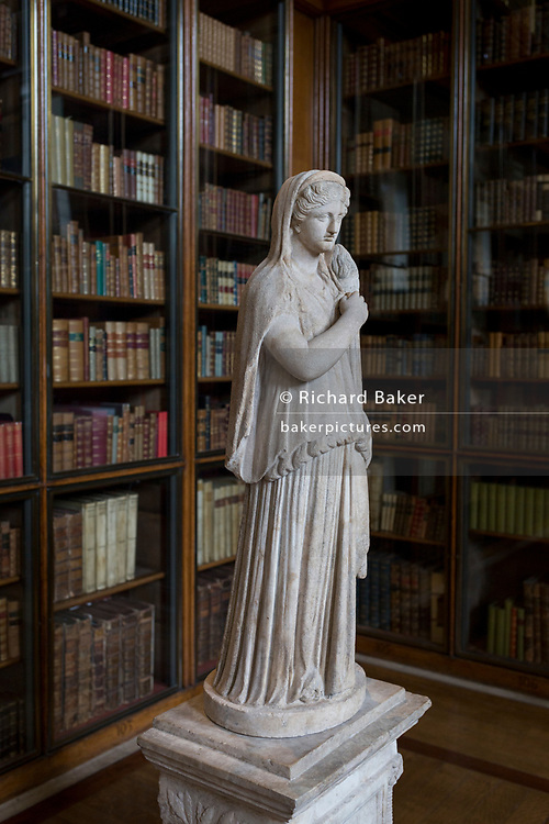 A detail of the 2nd century Roman copy from Greek original of Demeter holding a torch, in the Enlightenment Gallery of the British Museum, on 11th April 2018, in London, England.