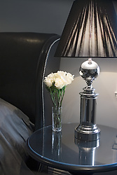 Artists Inn Washington DC Ellington Room side table with white roses