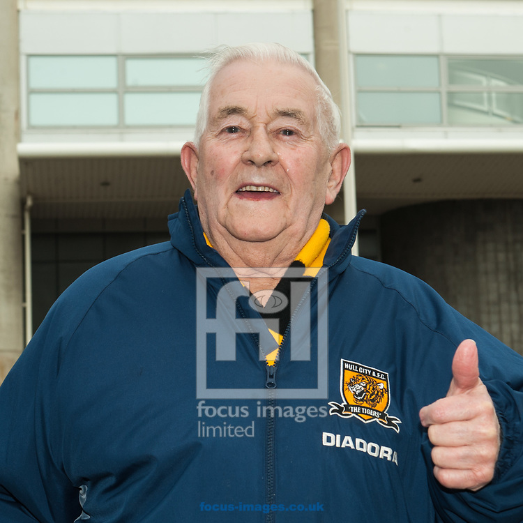 A Hull City fan prior to the Sky Bet Championship match between Hull City and Queens Park Rangers at the KCOM Stadium, Hull<br /> Picture by Matt Wilkinson/Focus Images Ltd 07814 960751<br /> 07/04/2018