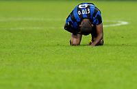 La delusione di Samuel Eto'o (Inter) <br /> Milano 03/10/2009 Stadio Giuseppe Meazza San Siro<br /> Inter Udinese - Anticipo del Campionato di Serie A Tim 2009-2010.<br /> Foto Giorgio Perottino / Insidefoto