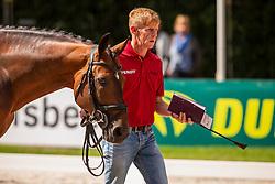 Ehning Marcus, GER, Comme Il Faut 5<br /> Rotterdam - Europameisterschaft Dressur, Springen und Para-Dressur 2019<br /> Vet-Check Springen<br /> Horse Inspection Jumping horses<br /> 19. August 2019<br /> © www.sportfotos-lafrentz.de/Sharon Vandeput