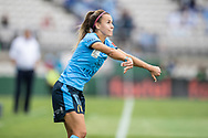 SYDNEY, AUSTRALIA - NOVEMBER 17: Sydney FC midfielder Angelique Hristodoulou takes a throw in during the round 1 W-League soccer match between Sydney FC Women and Melbourne Victory Women on November 17, 2019 at Netstrata Jubilee Stadium in Sydney, Australia. (Photo by Speed Media/Icon Sportswire)