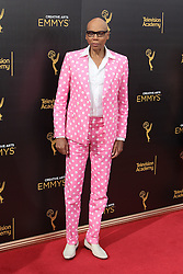 .  RuPaul    attends  2016 Creative Arts Emmy Awards - Day 2 at  Microsoft Theater on September 11th, 2016  in Los Angeles, California.Photo:Tony Lowe/Globephotos