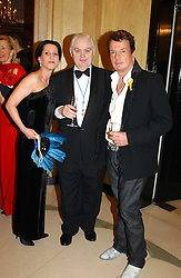 Left to right, PHYLLIS, COUNTESS SONDES, LORD LAMONT and NICKY HASLAM at 'A Rout' an evening of late evening party, essentially of revellers in aid of the Great Ormond Street Hospital Children's Charity and held at Claridge's, Brook Street, London W1 on 25th January 2005.<br /><br />NON EXCLUSIVE - WORLD RIGHTS