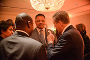 "Photo by Matt Roth.Assignment ID: 10137379A..Reverend Jesse Jackson and news anchor Brian Williams talk during an inaugural ""Bi-Partisan Celebration"" hosted by Buffy and Bill Cafritz, Ann and Vernon Jordan, Vicki and Roger Sant's at the Dolley Madison Ballroom at the Madison Hotel in Washington, D.C. on Monday, January 21, 2013."