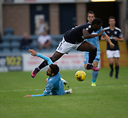 Bolton Wanderers' Jem Karacan brings down Dundee's Rorie Deacon Dundee v Bolton Wanderers pre-season friendly at Dens Park, Dundee, Photo: David Young<br /> <br />  - © David Young - www.davidyoungphoto.co.uk - email: davidyoungphoto@gmail.com