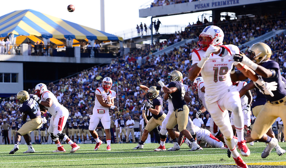 The Rutgers Scarlet Knights football team takes on the Naval Academy at Jack Stephens Field in Annapolis, MD on Saturday, September 20, 2014.