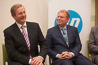 April 30, 2015 REPRO FREE &mdash;An Taoiseach Enda Kenny pictured with John Hinshaw, HP&rsquo;s Chief Customer Officer and Executive Vice President, Technology &amp; Operations at the official opening of HP&rsquo;s new Innovation Centre in Ballybrit, Co. Galway.  <br /> <br /> Employing 700 highly skilled engineers the new state-of-the-art facility confirms Galway&rsquo;s status as a Centre of Excellence within HP globally focusing on software research and development, OpenStack cloud technology and business service innovation. <br /> <br />  Photo: Andrews Downes XPOSURE