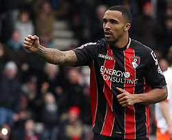 Bournemouth's Callum Wilson celebrates  - Photo mandatory by-line: Robbie Stephenson/JMP - Mobile: 07966 386802 - 14/03/2015 - SPORT - Football - Bournemouth - Dean Court - AFC Bournemouth v Blackpool - Sky Bet Championship