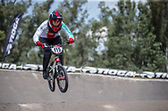 #115 (CLAESSENS Zoe) SUI during practice at round 1 of the 2018 UCI BMX Supercross World Cup in Santiago del Estero, Argentina.
