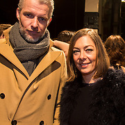 NLD/Amsterdam/20140307 - Boekenbal 2014, Onno Aerden en Cecile Nardinx