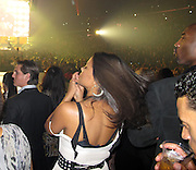 EXCLUSIVE: Kobe Bryant seen here with Sanaa Lathan at the Kanye West concert in Los Angeles, CA.<br />