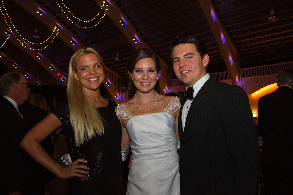 St.PeteDebs..Caption:(Wed. 12/29/2010 St Petersburg) Caroline Spitznagel, Debutante Amanda Nickens and Howie Acosta..Summary:2010 St. Petersburg Debutante Ball..Photo by James Branaman