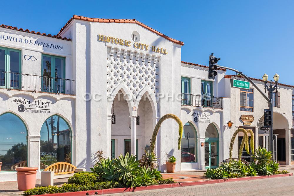 Historic City Hall Building on El Camino Real in San Clemente