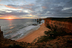 AUSTRALIA VICTORIA GREAT OCEAN ROAD 10FEB08 - View of the Twelve Apostles during sunset, one of Australia's famous landmarks, Victoria, Australia...jre/Photo by Jiri Rezac..© Jiri Rezac 2008..Contact: +44 (0) 7050 110 417.Mobile:  +44 (0) 7801 337 683.Office:  +44 (0) 20 8968 9635..Email:   jiri@jirirezac.com.Web:    www.jirirezac.com..© All images Jiri Rezac 2007 - All rights reserved.
