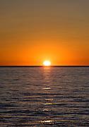 Sunset over Lummi Bay, Washington, USA.