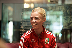 CARDIFF, WALES - Monday, April 1, 2019: Wales' captain Sophie Ingle during a media session at the Vale Resort ahead of a friendly against the Czech Republic. (Pic by David Rawcliffe/Propaganda)