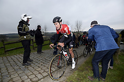 March 23, 2018 - Harelbeke, Belgique - HARELBEKE, BELGIUM - MARCH 23 : BENOOT Tiesj (BEL)  of Lotto Soudal during the 60th Record Bank E3 Harelbeke cycling race with start in Harelbeke and finish in Harelbeke (206 kms) on March 23, 2018 in Harelbeke, Belgium, 23/03/2018 (Credit Image: © Panoramic via ZUMA Press)