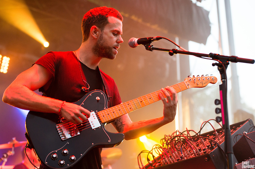M83 performs at HARD Toronto at historic Fort York. August 4, 2012. Copyright © 2012 Chris Owyoung.
