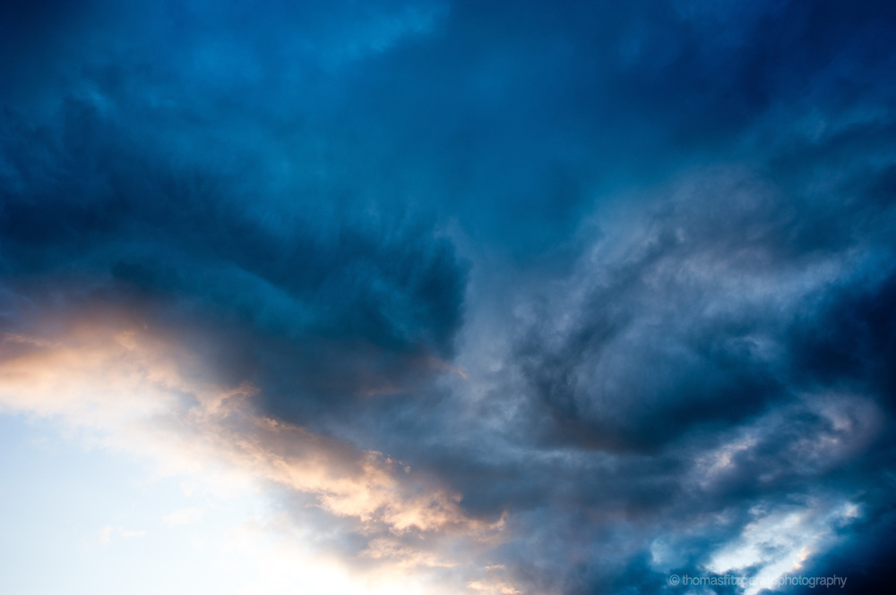 Dramatic CLoud Formations in the Evening Sky