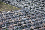 Residential areas built next to a baseball and sorting complex are seen from the sky, in Las Vegas, Nevada, USA.